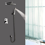Sprinkle® Shower Faucets Wall Mount with Chrome Single Handle Four Holes