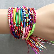 Färgade vävda armband