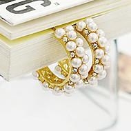 South Korea retro palace pearl diamond hoop earrings elegance earrings E458