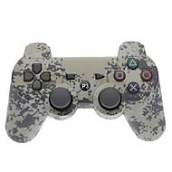 Grijs Camouflage Dual-Shock Bluetooth V4.0 draadloze controller voor PS3