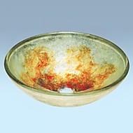 Hedendaagse gehard glas zinken afwerking badkamer wastafel