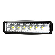 6 LED 18W rektangel Work Lett