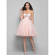 TS Couture® Cocktail Party / Prom /  Dress - Pearl Pink Plus Sizes / Petite A-line Sweetheart Knee-length Tulle