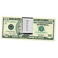 Gift Groomsman Wide Stainless Stea Money Clip