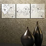 Stretched Canvas Art Botanical Flower Group Set of 3