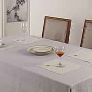 Ensemble de 6 serviettes de table en coton polyester Mélange floral blanc