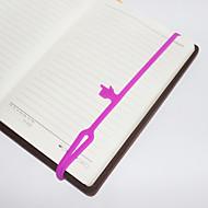 proteção de silicone ambiental bookmarks dedos elásticos (cor aleatória)