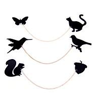 quirrel fruit bird and butterflie cat collar pin brooch lapel lapel Fun (random color)