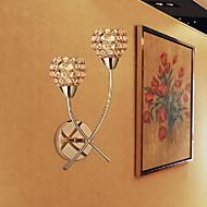cristal d'or Applique murale à 2 lumière 220-240v