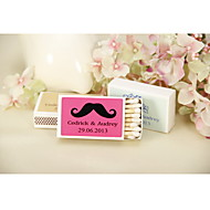decoração do casamento matchbooks personalizados - bigode-conjunto de 12 (mais cores)