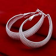 Net Shape Hoop Earrings