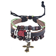 Men's/Unisex/Women's Charm Bracelet Alloy/Leather