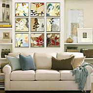 Άνθινο/Βοτανικό Καμβάς σε Κορνίζα / Σετ σε Κορνίζα Wall Art,PVC Σαμπανιζέ Χωρίς Χάρτινο Φόντο με Πλαίσιο Wall Art
