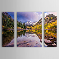 Stretched Canvas Art Landscape Maroon Bells by Dan Ballard Set of 4