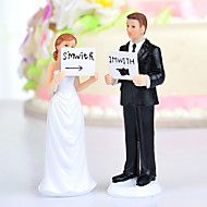 "Cake Toppers ""I'm With Her/Him"" Bride & Groom  Cake Topper"