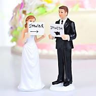"""kake toppers """"jeg er med henne / ham"""" brud& brudgommen kake topper"""