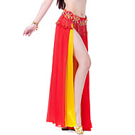 Belly Dance Skirts Women's Training / Performance Chiffon Split Front / Tiers 1 Piece Skirt