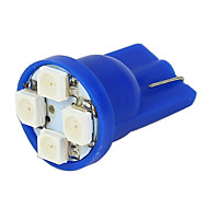 Merdia 2x T10 194 168 501 4-SMD 3528 LED ampoule de voiture de Blue-LEDD004T10B4S1
