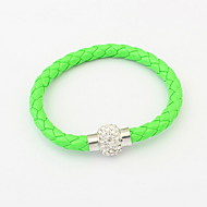 Fashion Leather With Rhinestone Women's Bracelet(More Colors)