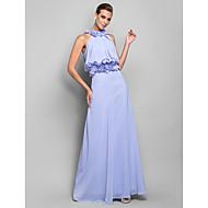 Formal Evening/Military Ball Dress - Lavender Plus Sizes Sheath/Column High Neck Floor-length Chiffon