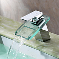 skvette ® ved lightinthebox - foss bathroom sink tappekran med glass tut (krom)