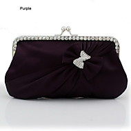 Women Silk Event/Party Evening Bag White / Beige / Purple / Blue / Red / Silver / Black