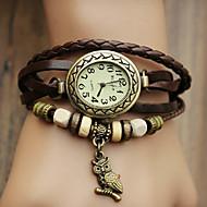 Женские Модные часы Часы-браслет Кварцевый PU Группа Богемные Сова Черный Синий Красный Оранжевый Коричневый Зеленый