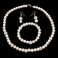 Women's Jewelry Set Pearl/Rhinestone