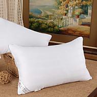 100% bomull og 5% Silk Soft White Bed Pillow