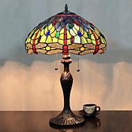 Fjärilar och pärlor bordslampa, 2 ljus, Tiffany Resin glasmålning