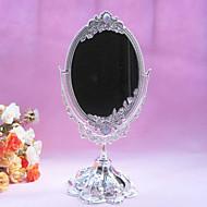 "10.5""Resplendent Flower Style Metal Tabletop Mirror"