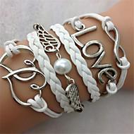 Women's Charm Bracelet Alloy/Rope Imitation Pearl