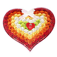 Heart Shaped Colorful Rose Jabones Pétalos Weeding Favor