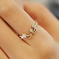 Βέρες απομίμηση διαμαντιών Κράμα ΝΟΤΕΣ ΜΟΥΣΙΚΗΣ Love Ασημί Χρυσαφί Κοσμήματα Καθημερινά 1pc