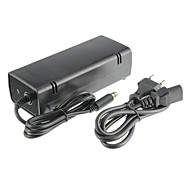 xbox 360E ac adapter (os plug) wired sort plast 1-adapter, 1 kabel
