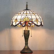 Bordslampa, 2 ljus, Tiffany Elegant Resin glasmålning