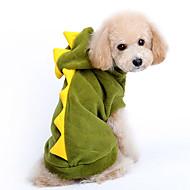 Kutyák Jelmezek / Kapucnis felsőrész Piros / Zöld Kutyaruházat Tél / Tavasz/Ősz Rajzfilm Aranyos / Szerepjáték