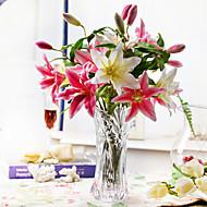 """17.75 """"Fresh Pink Lily Arrangement üveg kristály váza"""