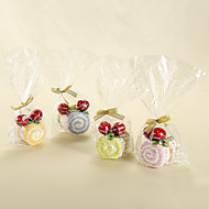 Swiss Roll Towel With Cherry - Set of 6 (More Colors)