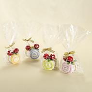Swiss Roll Handdoek Met Cherry - Set van 6 (meer kleuren)