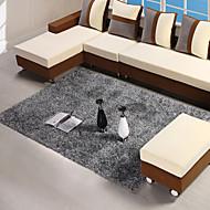 140 * 200cm grå moderne rug