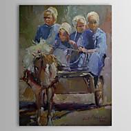 Op gespannen doek Amish door Richard Wallich
