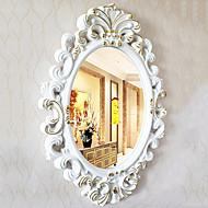 "30""Elegant White And Floden Floral Style Wall Mirror"