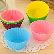 실리콘 컵 케이크 포장지 - 12 세트 (랜덤 색상)