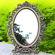 "9""Gothic Style Metal Tabletop Mirror"