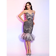 TS Couture Cocktail Party / Holiday Dress - Multi-color Plus Sizes / Petite Trumpet/Mermaid Spaghetti Straps Knee-lengthTulle / Stretch