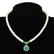 Women's Pearl Necklace Anniversary/Gift/Party/Special Occasion Emerald