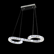 SL® Crystal Bulb Included Led Pendant, Minimalist Modern Metal Plating