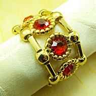 Bracelet de luxe Design Perles Acrylique Serviette, Dia4.2-4.5cm Ensemble de 12