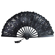 Black Lace Fan Hand
